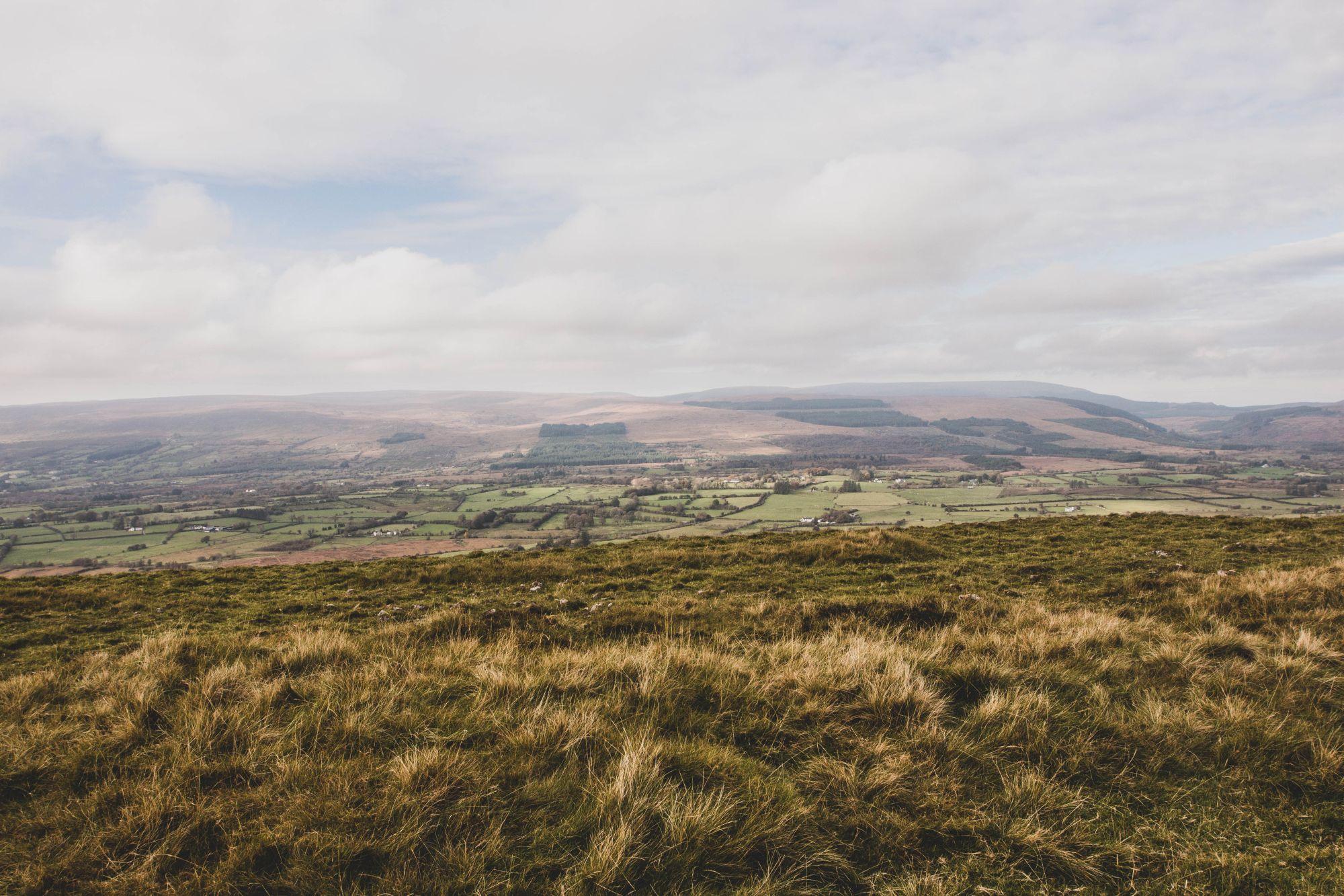 Vue sur les Ox Mountains à Sligo